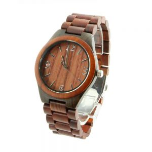 redwood ring and ebony case women watch and the exchange watch in red wood show picture