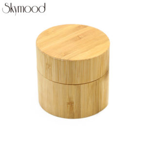 cylindrical bamboo yellow watch box wood overall picture