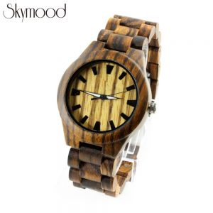 full zebra women watches with wood and big dial overall picture