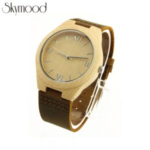 full bamboo with roman numeral dial wood facts watches side view picture