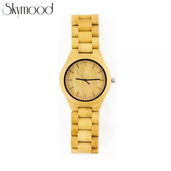 full bamboo round wood grain watch overall picture