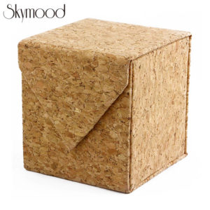 square cork wood watch boxes cube case overall picture