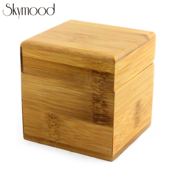 make with bamboo wood watch case yellow square box