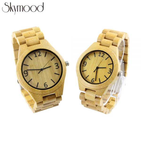 couple bamboo full wooden watches amazon show picture