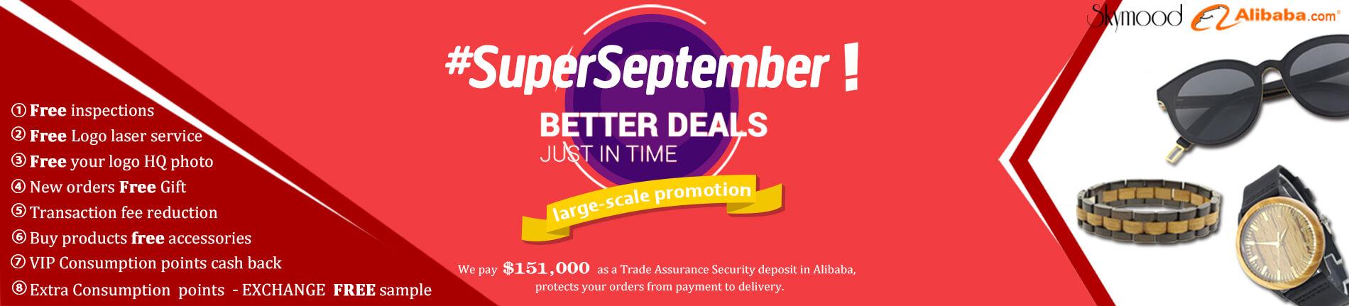 #superseptember wood sunglasses wood watch discount (2) (1)