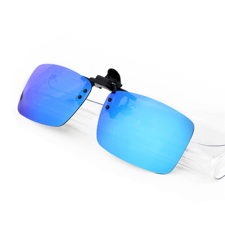 custom logo with spring metal mirrored polarized lens tac clip on ...