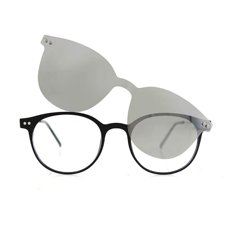 03612e7740ab clip-on glasses sunglasses frame polarized magnetic clip on sunglasses