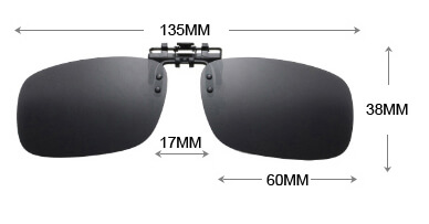 clip on sunglasses size chart