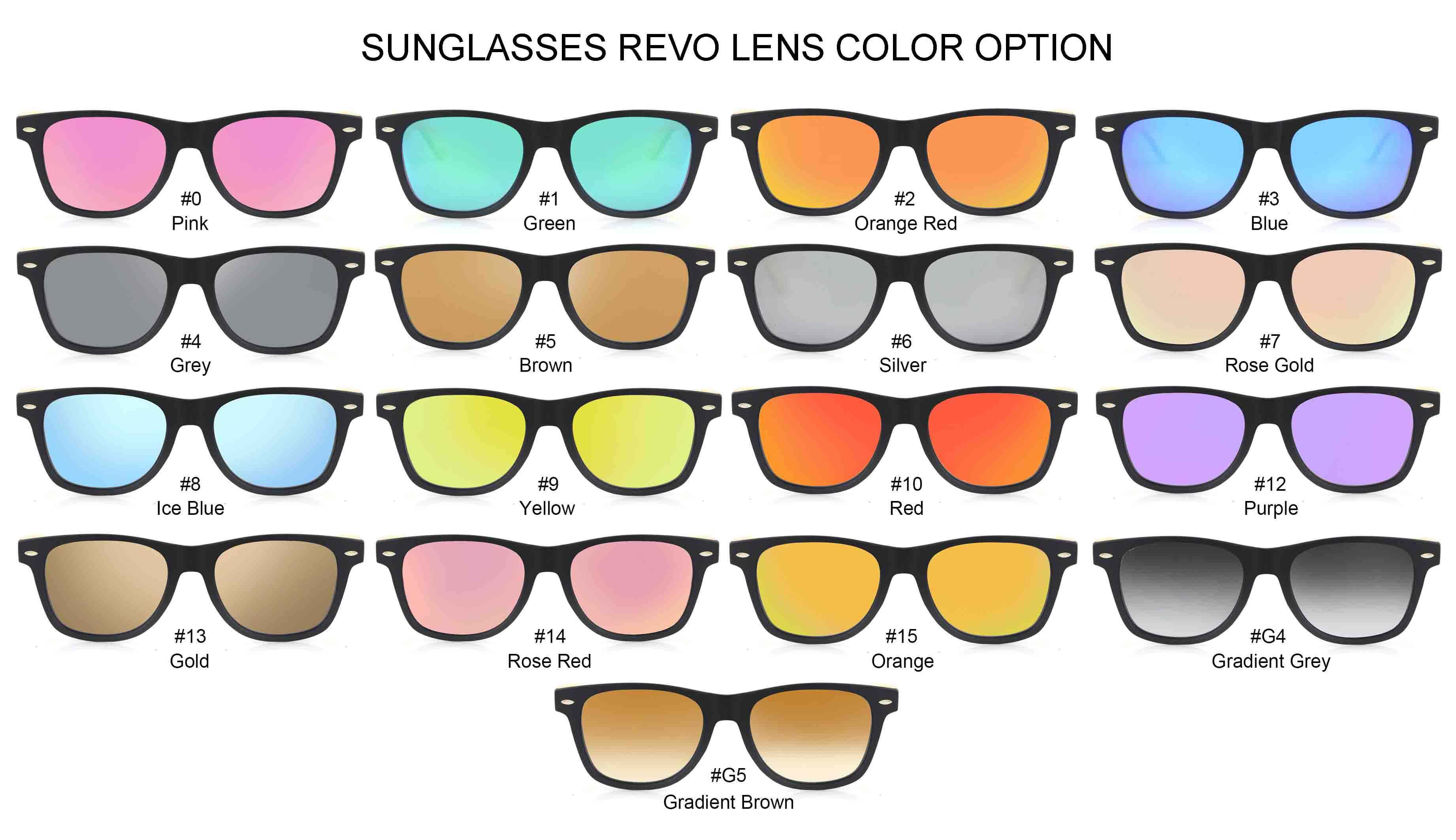 sunglasses lenses colors