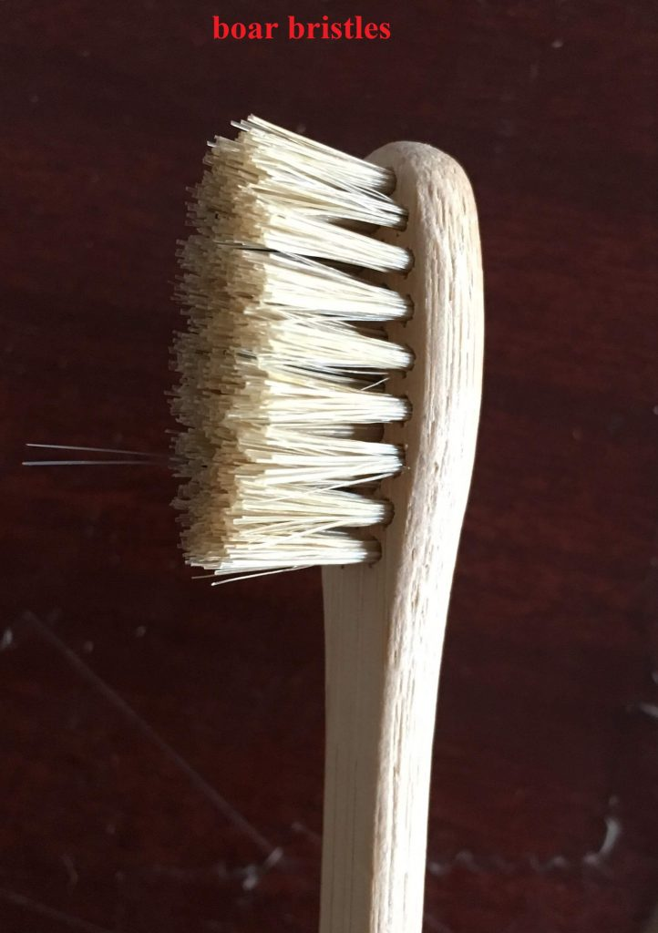 natural boar bristles for bamboo toothbrush
