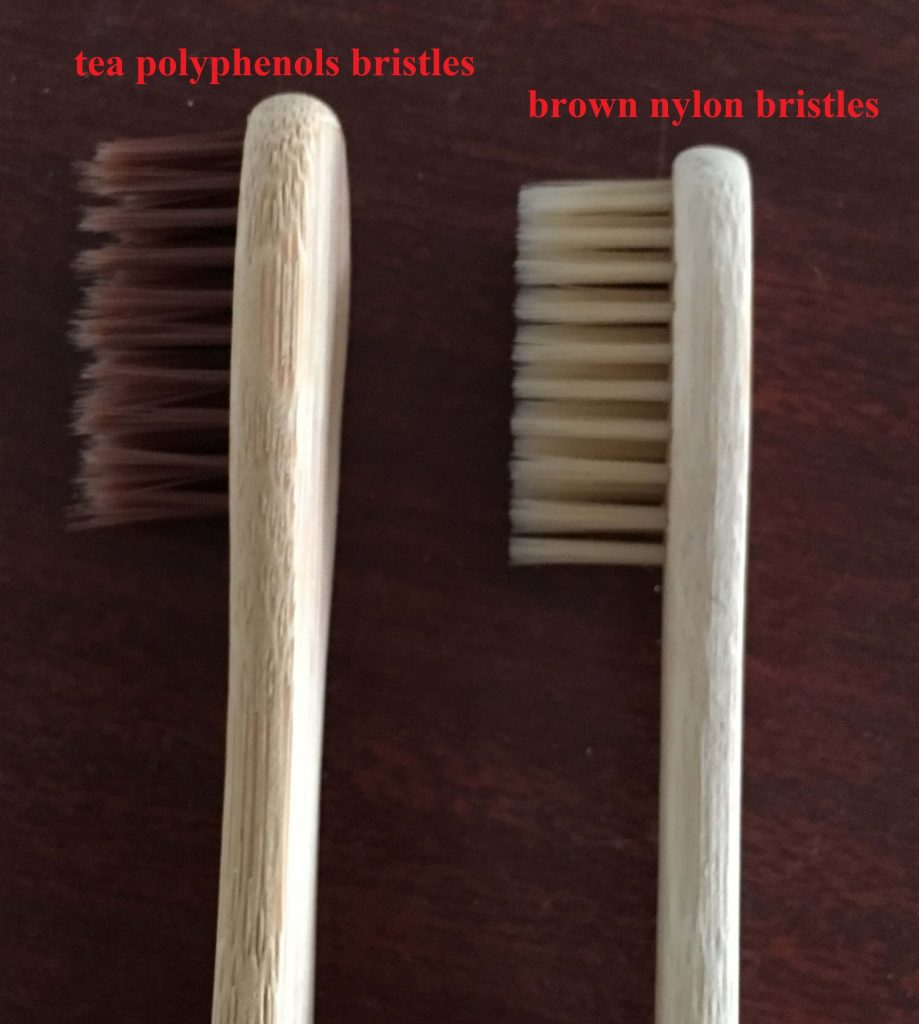 tea polyphenols bristles for bamboo toothbrush